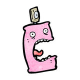 Cartoon deodorant can Royalty Free Stock Image