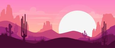 Cartoon desert landscape Royalty Free Stock Image