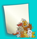 Cartoon design with cats and dogs Royalty Free Stock Photography