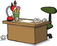 Cartoon designer table Royalty Free Stock Photography