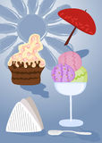Cartoon desserts Royalty Free Stock Photography