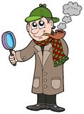 Cartoon detective royalty free stock images