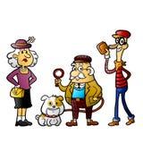 Cartoon Detective characters Stock Image