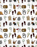 Cartoon Detective Equipment Seamless Pattern Royalty Free Stock Photo