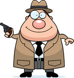 Cartoon Detective Gun Royalty Free Stock Photography