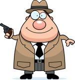 Cartoon Detective Gun Royalty Free Stock Photography