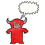 Cartoon devil Royalty Free Stock Image