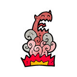 Cartoon devil appearing Royalty Free Stock Photography