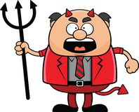 Cartoon Devil Boss Angry Stock Photos