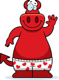 Cartoon Devil Boxers. A cartoon illustration of a devil in boxer shorts Stock Photography