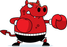 Cartoon Devil Boxing Royalty Free Stock Image