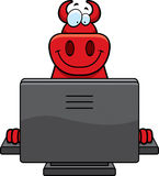 Cartoon Devil Computer Royalty Free Stock Photography