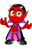 Cartoon Devil - Confused. A cartoon illustration of a Fun Devil Character Stock Photography