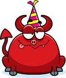 Cartoon Devil Drunk Party Royalty Free Stock Photography