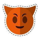 Cartoon devil emoticon funny icon Royalty Free Stock Images