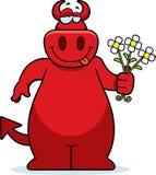Cartoon Devil Flowers Stock Photos