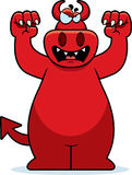Cartoon Devil Growling Stock Photo