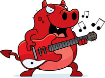 Cartoon Devil Guitar Stock Image