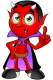 Cartoon Devil - Having An Idea Stock Image