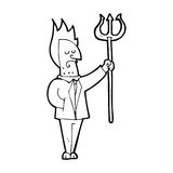 cartoon devil with pitchfork Royalty Free Stock Photo