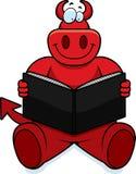 Cartoon Devil Reading Stock Photography