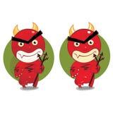 Cartoon devil. Red despiting impish cartoon devil Royalty Free Stock Photo