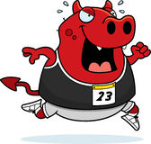 Cartoon Devil Running Race Royalty Free Stock Image
