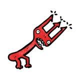 cartoon devil's pitchfork Stock Images