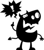 Cartoon Devil Silhouette Talking Stock Images