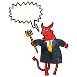 cartoon devil with speech bubble Royalty Free Stock Images