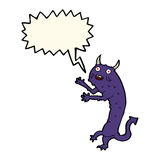 Cartoon devil with speech bubble Stock Photography