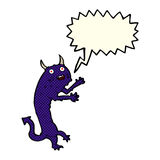 Cartoon devil with speech bubble Royalty Free Stock Photos