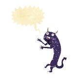 Cartoon devil with speech bubble Stock Photography