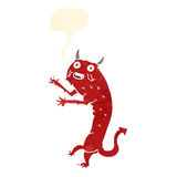Cartoon devil with speech bubble Stock Image