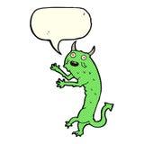 Cartoon devil with speech bubble Stock Image