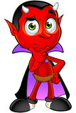 Cartoon Devil - Thinking. A cartoon illustration of a Fun Devil Character Royalty Free Stock Images