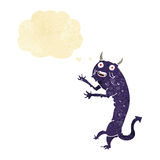Cartoon devil with thought bubble Royalty Free Stock Images