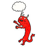 Cartoon devil with thought bubble Stock Image