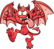 Cartoon devil. Vector clip art illustration with simple gradients. All in a single layer Stock Images