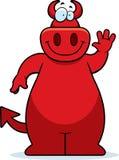 Cartoon Devil Waving Stock Photos