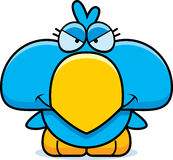 Cartoon Devious Blue Bird Royalty Free Stock Photography