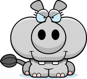 Cartoon Devious Rhinoceros Royalty Free Stock Images