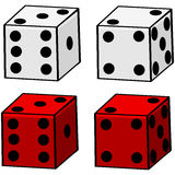Cartoon Dice Royalty Free Stock Photos