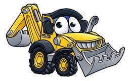 Cartoon Digger Bulldozer Character Stock Photo