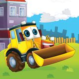 The cartoon digger - illustration for the children royalty free illustration