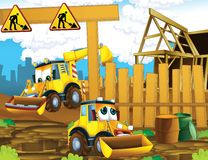 The cartoon digger - illustration for the children Royalty Free Stock Images