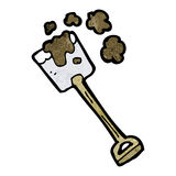 Cartoon digging spade Royalty Free Stock Photos