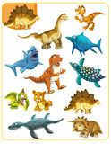 Cartoon dino - matching game Royalty Free Stock Image