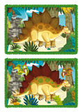 Cartoon dino - matching game Royalty Free Stock Photography