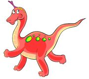 Cartoon dinosaur. Stock Images